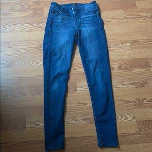 skinny celebrity pink blue jeans!
